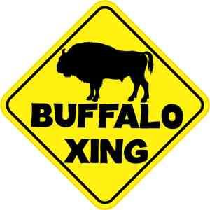 Buffalo Crossing Magnet