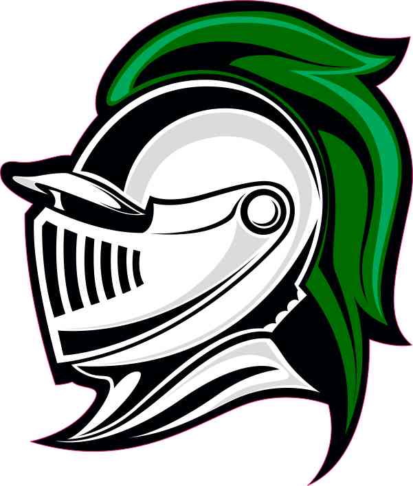 Left-Facing Green Knight Mascot Sticker
