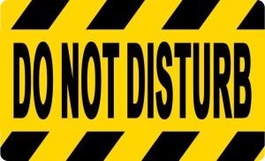 Do Not Disturb Sticker