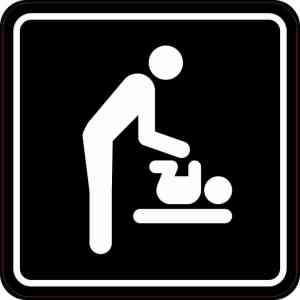 Men's Restroom Diaper Changing Station Sticker