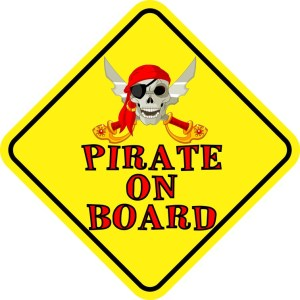 Pirate On Board Sticker