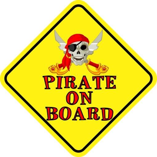 Pirate On Board Sticker
