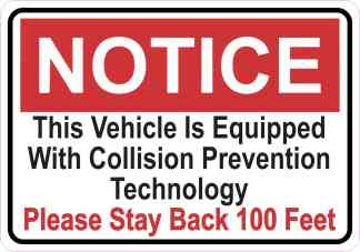 Notice Collision Prevention Technology Magnet