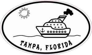 Cruise Ship Oval Tampa Sticker