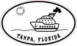 Cruise Ship Oval Tampa Sticker