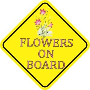 Flowers On Board Magnet