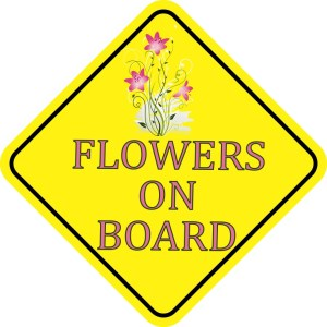 Flowers On Board Magnet