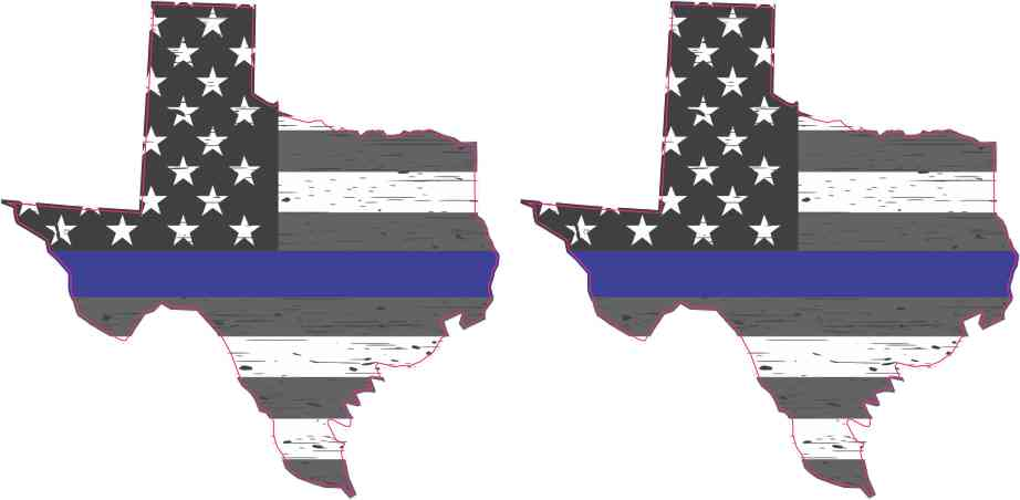 Rustic Texas Blue Lives Matter Stickers