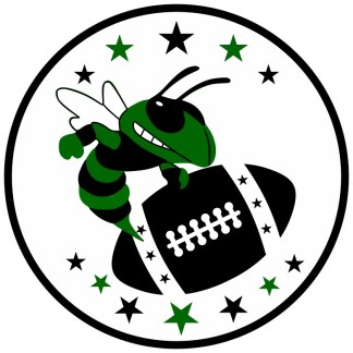 Green and Black Hornet Football Sticker