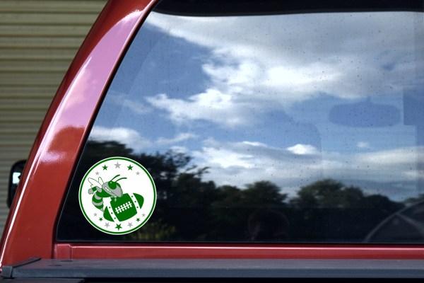 Green Hornet Football Sticker