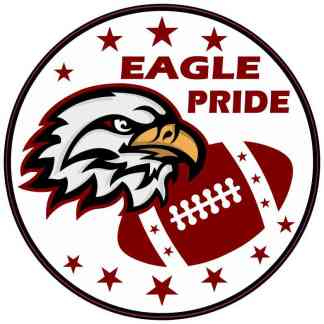 Maroon Eagle Pride Sticker