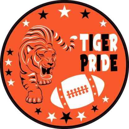 Orange Tiger Pride Sticker