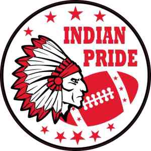 Red Indian Pride Sticker