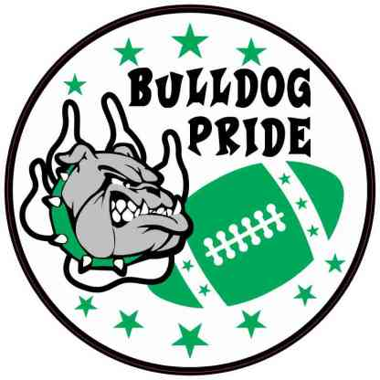 Green Bulldog Pride Sticker
