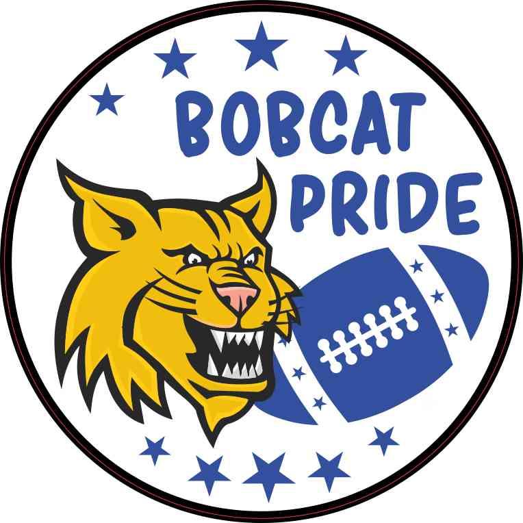 Blue Bobcat Pride Sticker