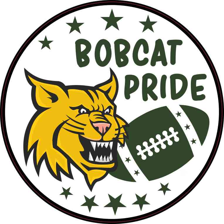 Green Bobcat Pride Sticker