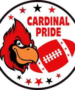 Red and Black Cardinal Pride Sticker