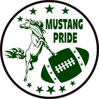 Green Mustang Pride Sticker