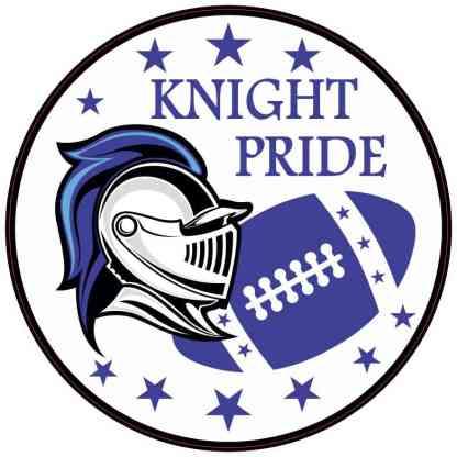 Blue Football Knight Pride Sticker