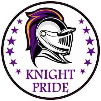Purple and Gold Knight Pride Sticker