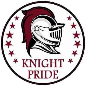 Maroon Knight Pride Sticker