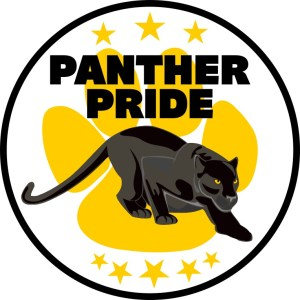 Yellow Paw Print Panther Pride Sticker