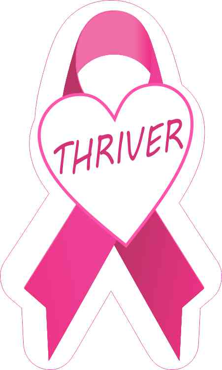 Thriver Breast Cancer Ribbon Sticker