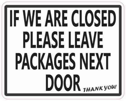 Leave Packages Next Door Sticker
