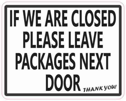 Leave Packages Next Door Magnet