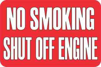 No Smoking Shut Off Engine Magnet