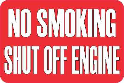 No Smoking Shut Off Engine Magnet