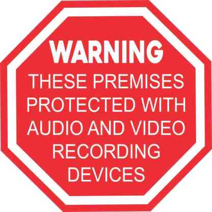 Audio and Video Recording Sticker