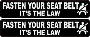 Fasten Your Seat Belt Stickers