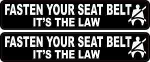 Fasten Your Seat Belt Stickers