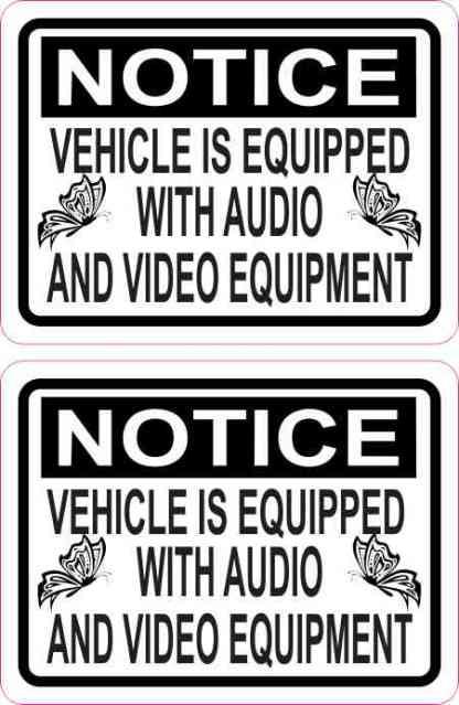Butterfly Notice Audio and Video Stickers
