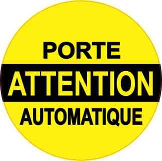 Porte Automatique Sticker