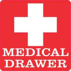 Medical Drawer Sticker