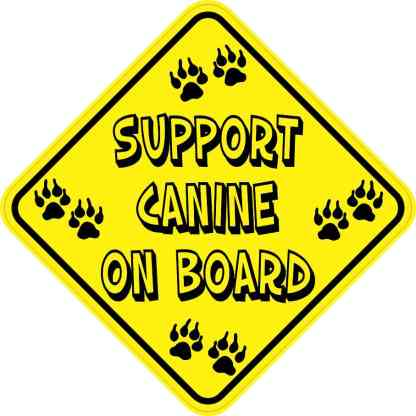 Support Canine on Board Sticker