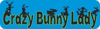 Crazy Bunny Lady Magnet