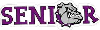 Purple Bulldog Senior Sticker