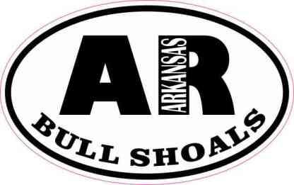 Oval AR Bull Shoals Arkansas Sticker