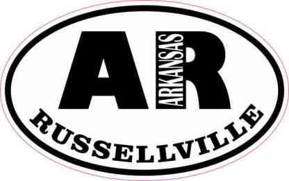 Oval AR Russellville Arkansas Sticker