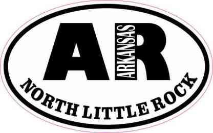 Oval AR North Little Rock Arkansas Sticker