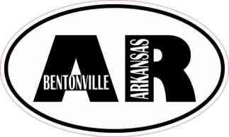 Oval AR Bentonville Arkansas Sticker