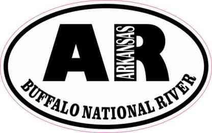 Oval AR Buffalo National River Sticker