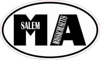 Oval MA Salem Massachusetts Sticker