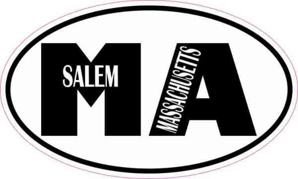Oval MA Salem Massachusetts Sticker