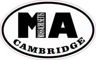 Oval MA Cambridge Massachusetts Sticker