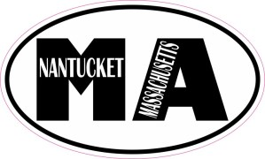 Oval MA Nantucket Massachusetts Sticker