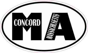 Oval MA Concord Massachusetts Sticker